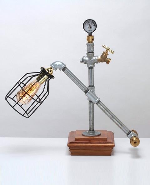 Squarecap Steampunk Lamp