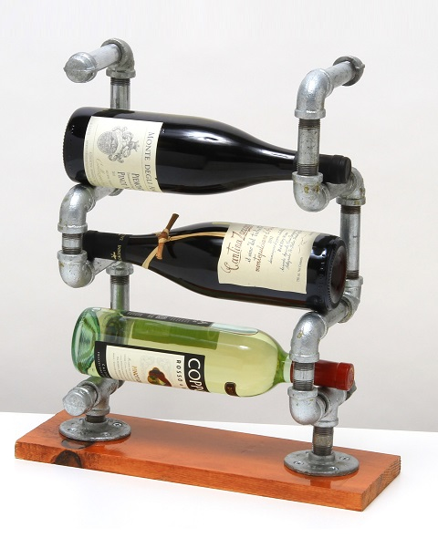 WineBerbal Steampunk Wine Rack